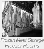 frozen meat storage freezer rooms