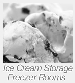 ice cream storage freezer rooms
